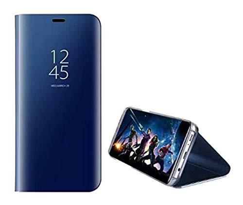 UILY Funda Compatible con Samsung Galaxy M31s, Carcasa Espejo Perspectiva Voltear Inteligente Ultradelgada Moda, Concha con Función Soporte Anticaída. Azul