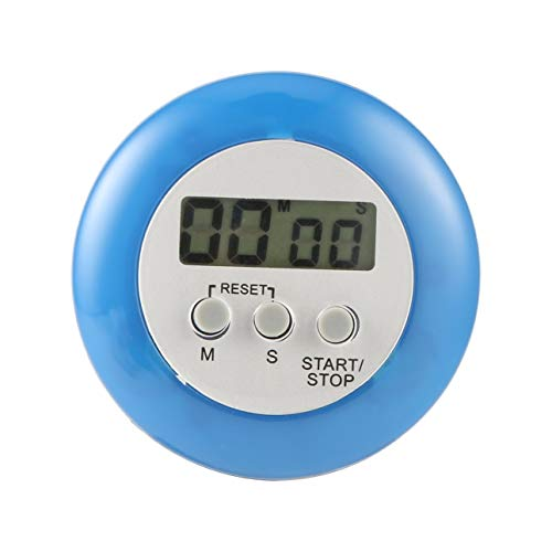 Ba30DEllylelly Mini compteur numérique mignon cuisine à la maison rond affichage LCD cuisson numérique compte à rebours compte à rebours alarme