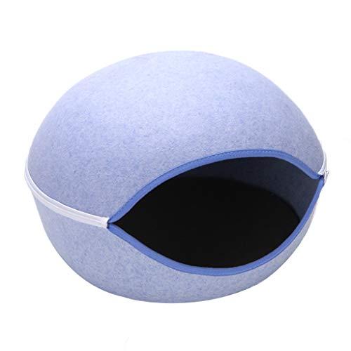 Bbhhyy Zwinger Egg Cat Egg Warm Pet Nest Personalized Cute Cat Nest Hundehütte Blau Leicht Zu Reinigen (Color : Blue)