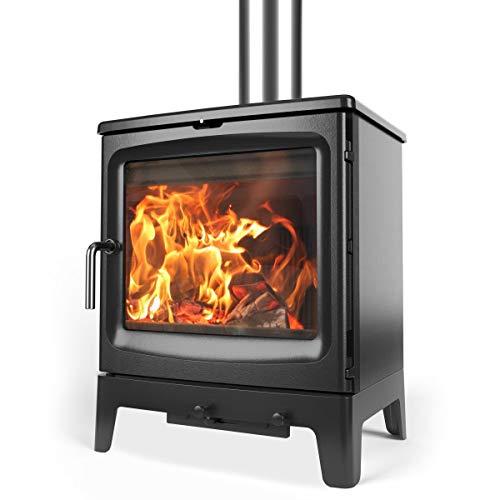 Saltfire Bignut 5 Wood Burner Stove 5kW DEFRA Approved EcoDesign Clean Burn High Efficiency Wood Log...