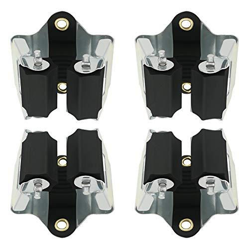 3-H Gerätehalter aus stabilem Federstahl - Besenhalter Wandhalter zur Aufbewahrung der Gartengeräte - Haushaltsgeräte - besenhalterung wand (schwarz 4er)