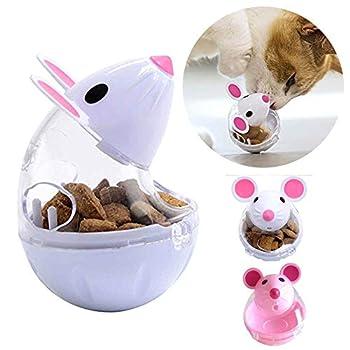 display08 Distributeur de friandises en forme de souris pour animal domestique - Rose