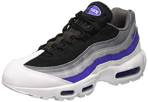 Nike Men's Air Max 95 Essential Fitness Shoes, Multicolour (White/Persian Violet/Cool Grey/Wolf Grey 110), 9 UK