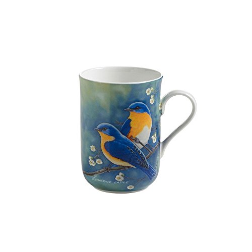 Maxwell & Williams PBW1002 Birds of the World Becher, Kaffeebecher, Tasse mit Vogelmotiv: Hüttensänger, in Geschenkbox, Porzellan