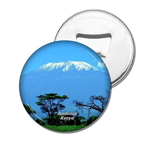 Weekino Kilimanjaro Amboseli Kenia Bier Flaschenöffner Kühlschrank Magnet Metall Souvenir Reise Gift