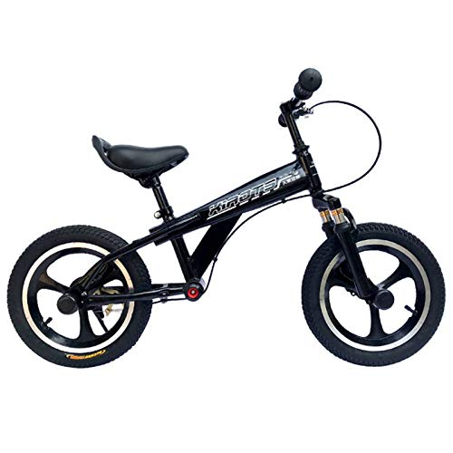 ERLAN Bicicletas sin Pedales Bicicleta de Equilibrio para Niños Pequeños (Niños de 7 a 12 Años), Bicicleta Sin Pedales con Freno y Ruedas de 16 Pulgadas, Manillar y Asiento Ajustables (Color : Black)