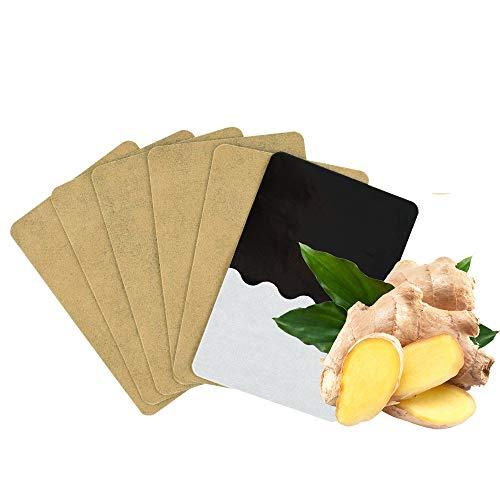 Freeorr 60Pcs Herbal Ginger Patch Fußpolster, Linderung von Gelenkfußschmerzen, Förderung der Durchblutung, Verbesserung der Schlafqualität Ginger Patch