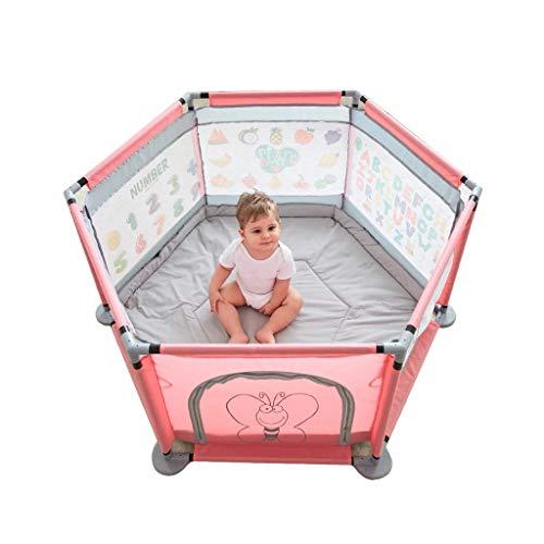 LIUFS-Clôture Clôture de jeu pour enfants Tapis d'intérieur rampant Clôture Accueil Parc d'attractions Safe Fence (Couleur : Pink)