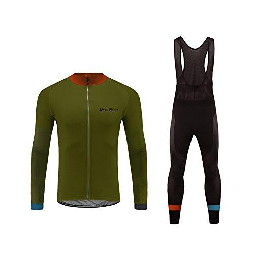 UGLY FROG KXITCXHB14 - Conjunto de ciclismo para hombre, de invierno, térmico, de manga larga, cortavientos, para ciclismo, camiseta larga y pantalones