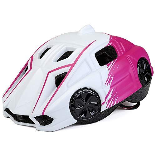 Kinderfietshelm, Kinderhelm, Kinderhelm, Kinderhelm met print kan worden aangepast veiligheidshelm en licht, Geschikt voor fiets, Motorfiets, Ski, Skateboard, 3-8, Kinderen