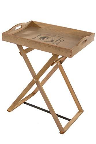 Elbmöbel, dienblad van hout met voeten, hoog, Bon Appetit, opvouwbaar, van hout, natuurlijk vintage, afmetingen h 63 x b 48 x d 35 cm
