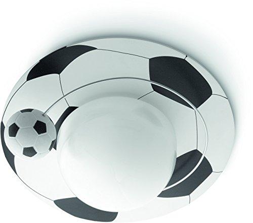 Philips 3050031P0 A+, Mykidsroom LED Deckenleuchte Calco Glas, 11 watts, E27, Weiß, 33.200000000000003 x 33.200000000000003 x 15.1 cm