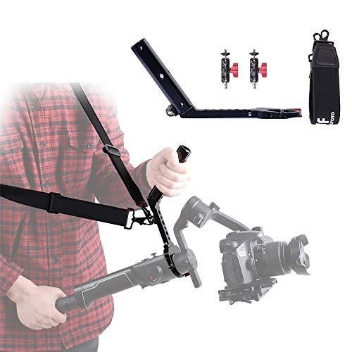 DF DIGITALFOTO Terminator Hang Strap Mounting Clamp Griff, kompatibel mit MOZA AIR 2 Stabilisator Gimbal Zubehör Monitor-Mikrofon installieren ZHIYUN WEEBILL LAB Crane 3 Setup Design