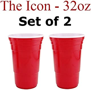 Red Cup Living 32 Oz. Reusable Red Cup - Icon XL (Set of 2)