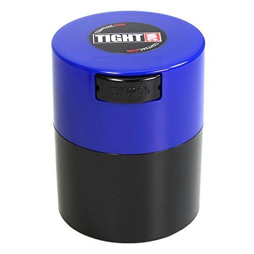 Tightvac 3-Ounce vacuüm verzegeld droge goederen opslag container, zwart lichaam/Dk. Blauwe pet