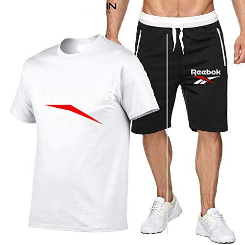 DREAMING-Pantalones finos de cinco puntos, traje deportivo al aire libre, camiseta informal de manga corta transpirable de verano para hombre, camiseta Top + Shorts S