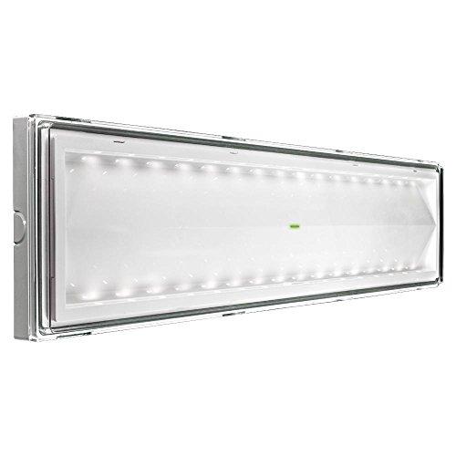 Beghelli BEG8584 Plafoniera Emergenza LED 18 W, Multicolore, vetro;policarbonato, acciaio