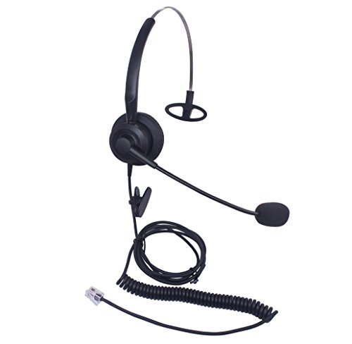 Xintronics Telefon Headset RJ9 Mono mit Noise Cancelling Mikrofon, Call Center Kopfhörer Geräuschunterdrückung für Yealink SIP T19P T20P T21P T22P T26P T28P Avaya 1608 1616 9608G 9641G(X10G1)