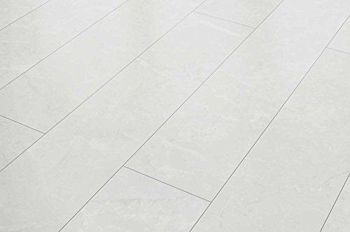 VisioGrande Laminat Autentico Fliese Granit Weiss 8 mm