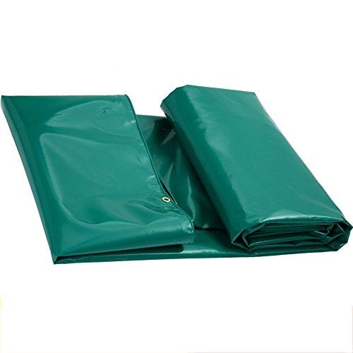 Tente bâches Bâche cryptée PVC Enduit Tissu Vert Protection Solaire Anti-UV imperméable à l'eau Durable épaissir Multifonction Tissu d'ombre Tissu de Pluie Il est largement utilisé