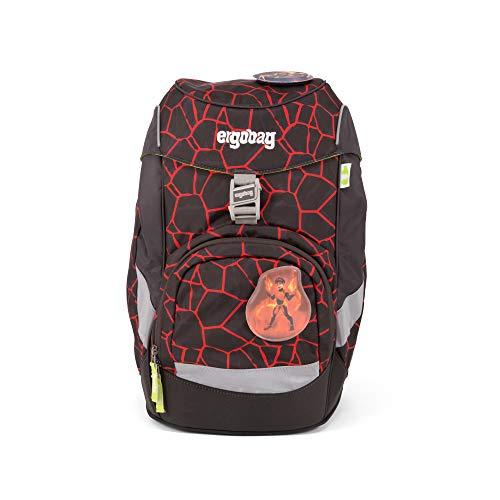ERGOBAG ergobag prime Single School Backpack Zainetto per bambini, 35 cm, 20 liters, Multicolore (Lava Red Black)