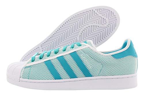adidas Originals Men's Superstar Adicolor Running Shoe, Shock Green/White, 11 M US