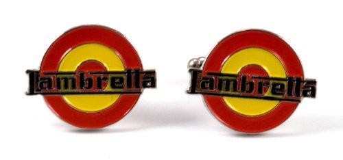 Gemelolandia | Boutons de Manchette logo lambretta couleurs de l'Espagne | Forme Ronde | | Pour Hommes et Garçons | Cadeaux Pour Mariages, Communions,