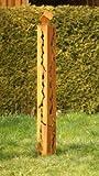 Gartendeko Rostsäule 150 cm mit Risse und Würfel