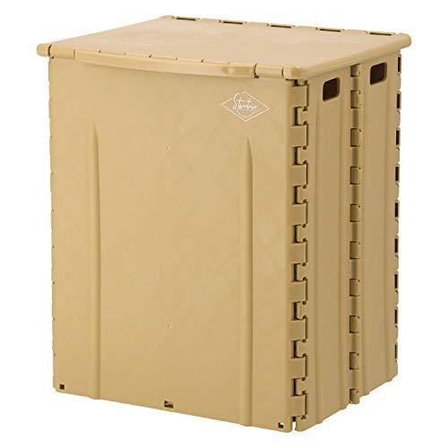 不二貿易 折りたたみ椅子 アウトドアチェア コンパクト 幅32cm サンドベージュ 収納 スツール 耐荷重80kg 86102