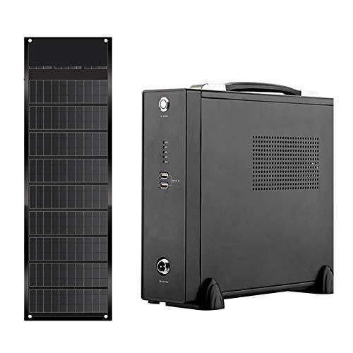 LQQ The New 220v 1000w/78AH Solar Generator+130w Foldable Solar Panel Lithium Ion Battery Portable UPS Mobile Power Supply (Power : 220v UPS 1000w+130w)