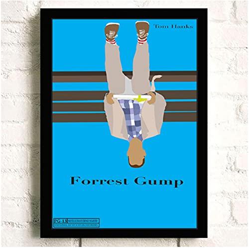 Forrest Gump Película clásica HD q Star Arte de pared Decoración para el hogar Pintura en lienzo Arte Decoración nórdica Cafe Bar Cartel de la habitación del hotel (60X80Cm) -24x32 Pulgadas Sin marco