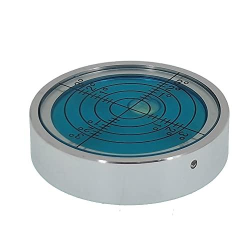 Umii, livella universale in lega di alluminio ad alta precisione orizzontale a bolla di livello cardanico orizzontale (40 x 10 mm) (blu)