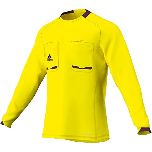 adidas Referee 12 - Camiseta de Manga Larga para árbitro Amarillo Lemon Peel/Purple Beauty F10 Talla:Extra-Large
