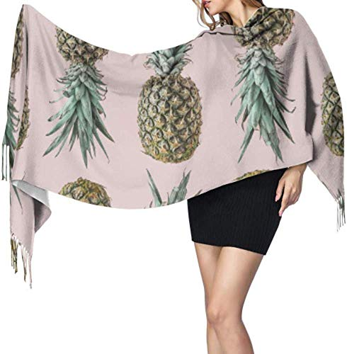 Naadloze ananas patroon blozen pastel vrouw kasjmier sjaal franje sjaal meisjes sjaal 66