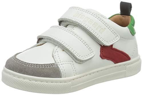 Bisgaard Jungen Karlo Sneaker, Mehrfarbig (White/Green 2006), 25 EU