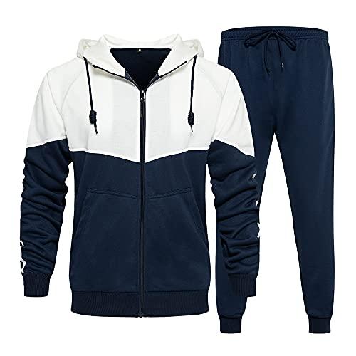 MANTORS Men's Activewear Full Zip Warm Tracksuit Sports Set Casual Sweat Suit TZ95 Blue XL