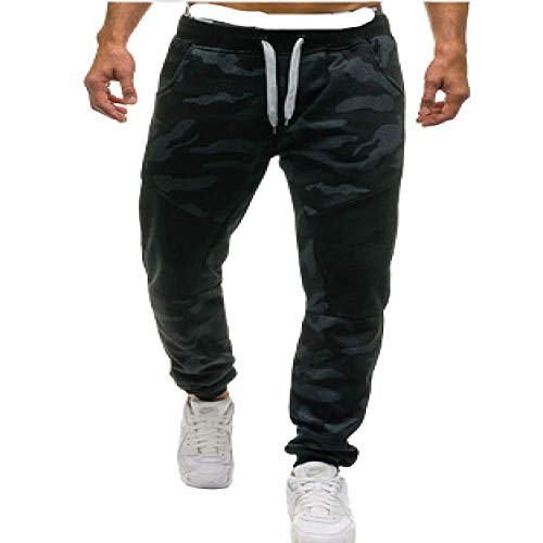Pantalons pour Hommes Camouflage Sweat Pantalon de Sport décontracté Sports Cordon de Serrage lâche Couleur Unie Sarouel