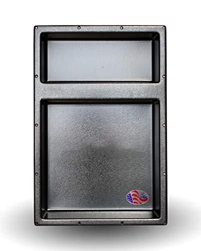 "Nova-Niche, Large Recessed Shower Niche, Flush Mount, Ready to Tile, 16"" x 24"" Double Shelf"