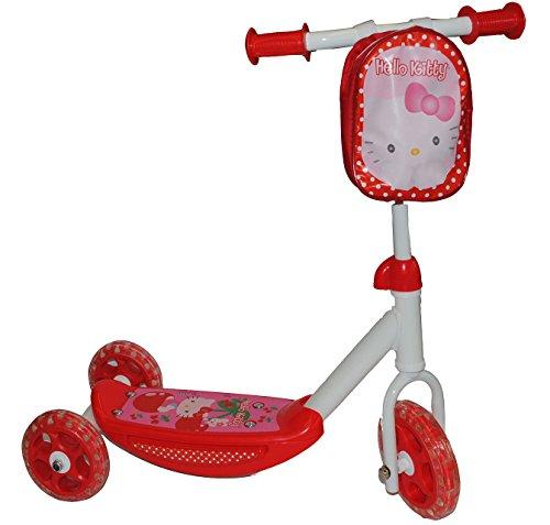 alles-meine.de GmbH Streetroller / Scooter -  Hello Kitty  - Roller aus Metall - für Kinder - 12 cm Räder - Kinderroller / Laufroller - Katze pink - Cityroller