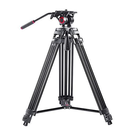 Videocamera miliboo MTT601II Professionale Heavy Duty Alluminio Doppio Tubo Treppiede Fluido Trascinamento Testa di Medio Livello Spreader Max Carico 10 kg DSLR Videocamera
