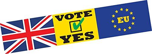 UE Vote Oui sortie Europe brexit voiture Bumper Sticker fenêtre Porte Business Van Taxi