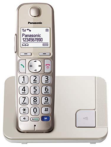Panasonic KX-TGE210SPN -Teléfono Fijo Inalámbrico (LCD Grande, Teclas Grandes, Agenda de 100...