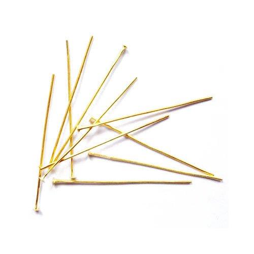 Charming Beads Eisen Nietstifte Goldfarben Flache 0.7 x 70mm Paket Von 125+