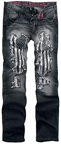 Rock Rebel by EMP Pete Männer Jeans schwarz W36L34 98% Baumwolle, 2% Elasthan Biker, Rockwear