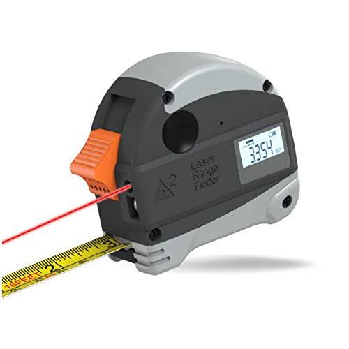 ASWT Elektronische digitale meetlint, stalen meetlint, houtbewerking, intelligente liniaal, multifunctionele infrarood-precisie-meetafstandsmeter, 30 m, USB opladen