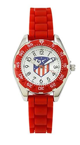 Atlético Madrid Reloj Analog-Digital para Unisex-Adult de Automatic con Correa en Cloth S2004015