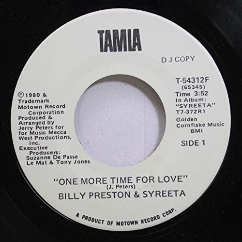 BILLY PRESTON & SYREETA 45 RPM One More Time For Love / Dance For Me Children