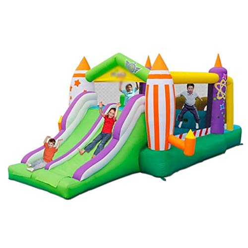 New Inflatable Bouncers Indoor Bouncy Castle Outdoor Kids Slide Garden Slides for 2-10 Year Olds Sma...