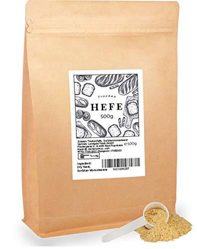 Trockenhefe 500g Hefe Germ Brot Pizza Backen inkl Dosierlöffel + E-Book
