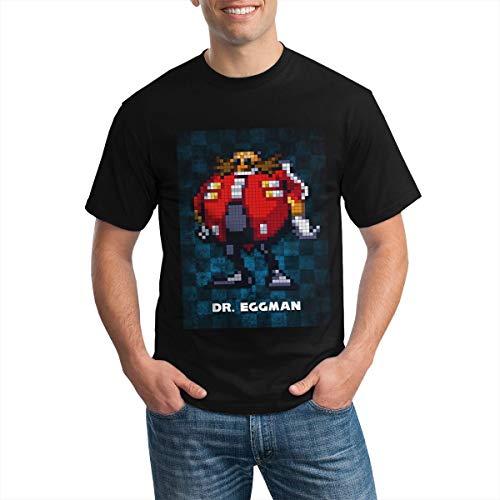 Do-Ctor Egg-Man V1.0 Camiseta de Moda de Manga Corta de algodón para Hombre Blackxl Black